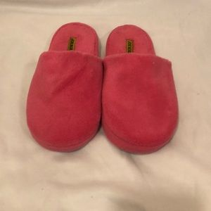 Pink soft slippers
